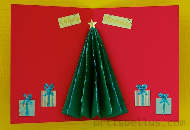 Christmas Card Images Ks2.Christmas Card Kusudama Tree Origami Artis Bellus