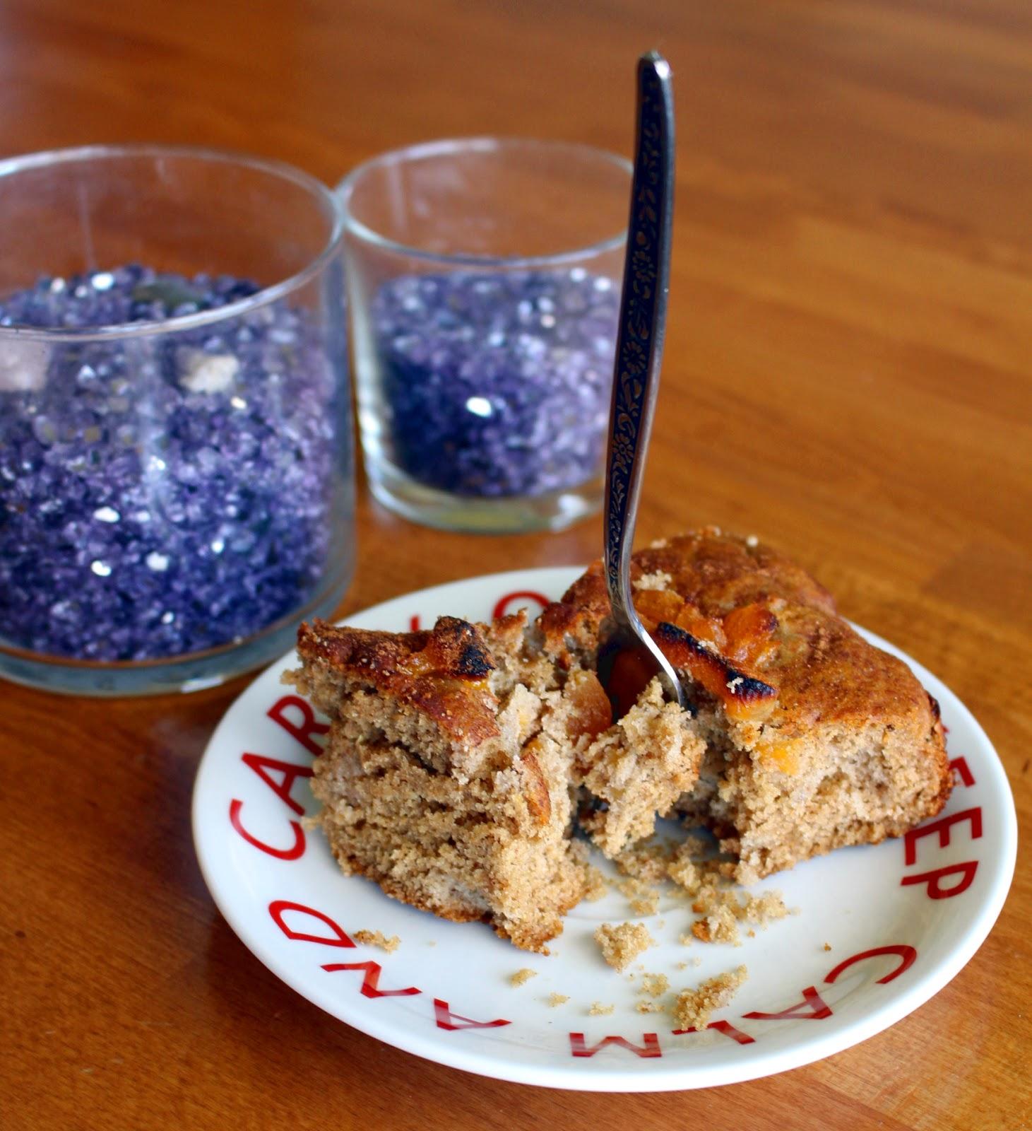 Lavender Apricot Earl Grey Tea Cake - Kat Cupcake