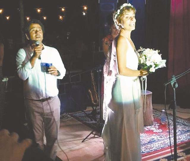 O casamento do  ator Marcos Palmeira e a diretora Gabriela Gastal (foto: Instagram/reprodução)