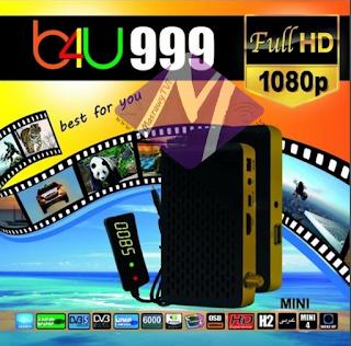 احدث ملف قنوات عربى لرسيفر B4U 999 Mini HD  بتاريخ 1-5-2019
