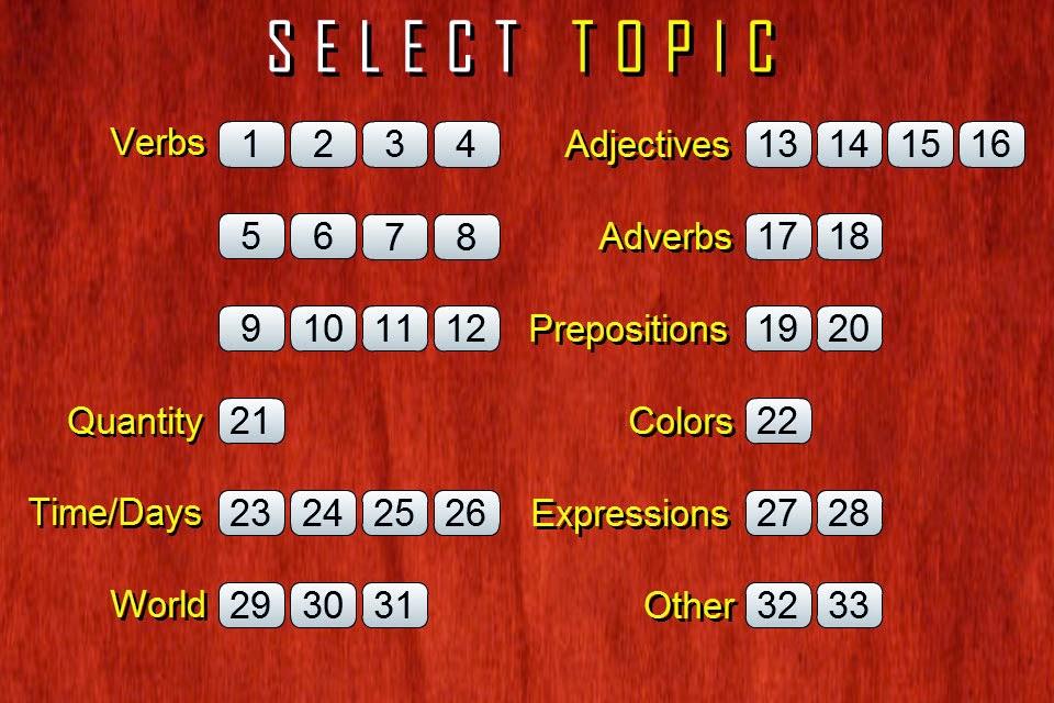 Spanish Vocabulary Quiz (High Frequency Words)   APT APP