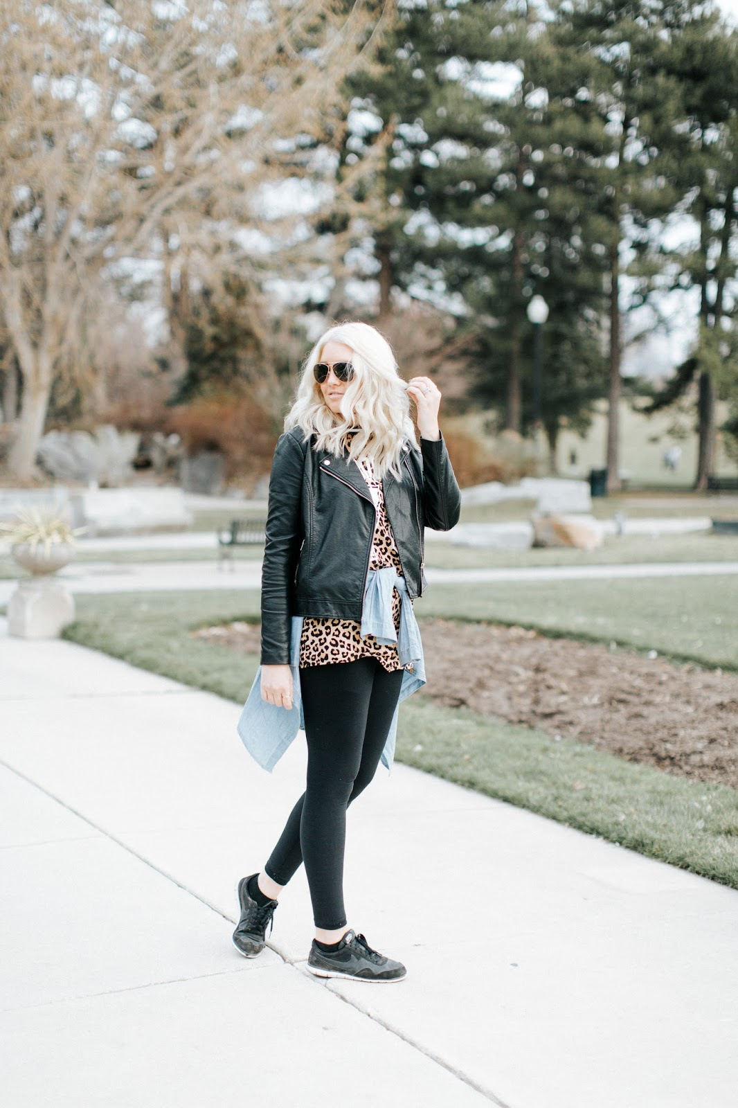 Layered Outfit, Modest Fashion Blogger, Leather Jacket