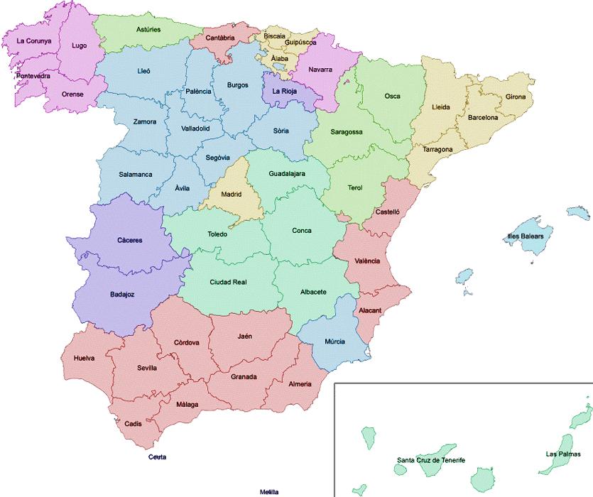 Mapa Interactiu Provincies Espanya.Es Carregador Mapa Interactiu De Les Provincies D Espanya