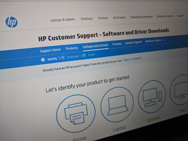 Página del fabricante HP para descargar los controladores.