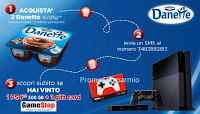 Logo Vinci PS4 e gift card GameStop