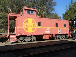 at & sf caboose