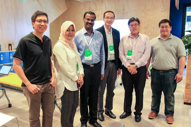 Insinyur Google Singapura dengan para pemimpin dari CDAC, EURASIA ASSOCIATION, MENDAKI & SINDA