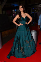 Raashi Khanna in Dark Green Sleeveless Strapless Deep neck Gown at 64th Jio Filmfare Awards South ~  Exclusive 031.JPG