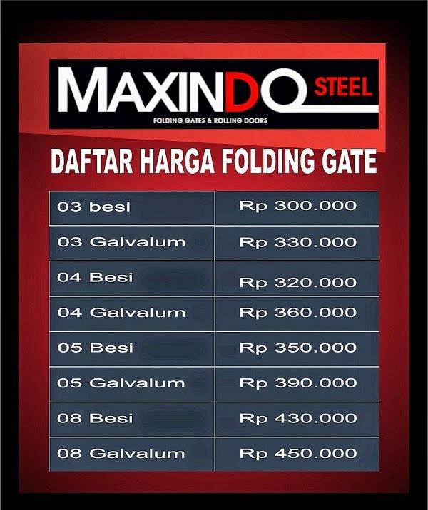 DAFTAR HARGA ROLLING DOOR DAN FOLDING GATE : HARGA FOLDING GATE DI ...