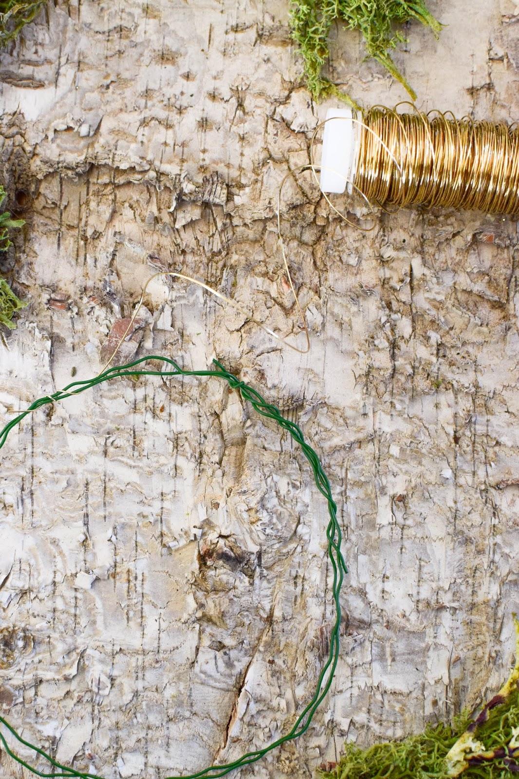 Anleitung Kranz binden aus Moos für den Herbst und Winter. DIY Dekoration basteln einfach selbermachen: Naturmaterialien basteln 2