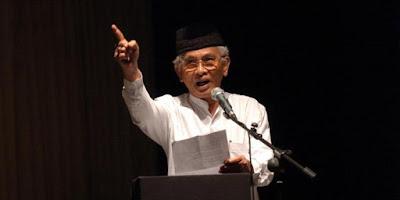 Puisi Negeri Haha Hihih Karya Gus Mus - KH. Musthofa Bisri