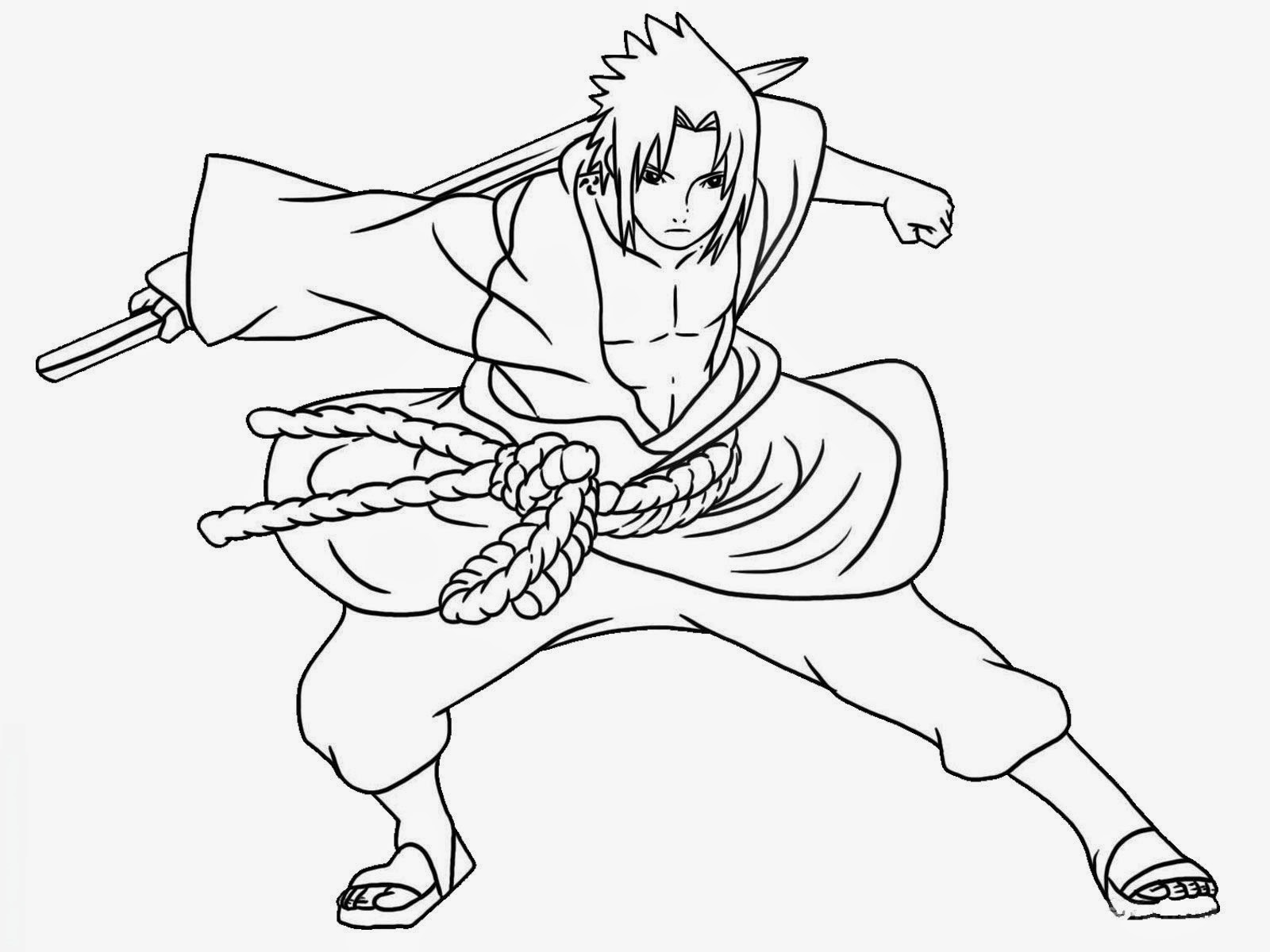 Gambar Mewarnai Naruto Gambar Mewarnai Lucu