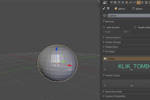 Cara menghapus UV Mapping di Blender 3D