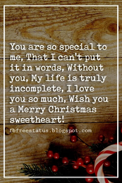 Christmas Messages for Wife