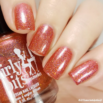 Girly Bits Cosmetics No Pumpkin Way October 2017 COTM Swatches and Review