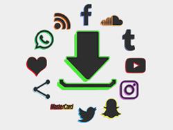 Black Color Drop Social Buttons