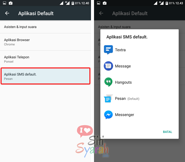 cara merubah default aplikasi android