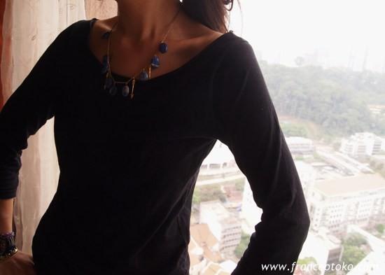 Sur les toits de paris/Diane Blue ラピスラズリのネックレス