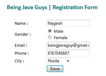 Spring,Ajax and jQuery Tutorial Hello World Application