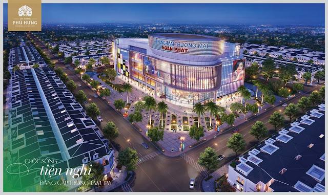 Trung tâm thương mại Ngân Phát tại dự án đất nền Cát Tường Phú Hưng