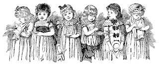 girls children illustration antique victorian border image