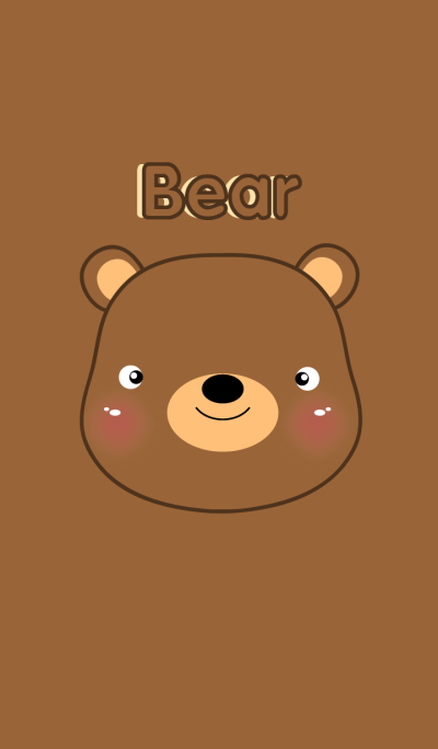 simple I love Cute Bear theme(jp)
