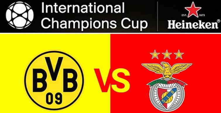 Hasil Borussia Dortmund vs Benfica Skor Akhir 2-2 (3-4 Pen) [ICC 2018]