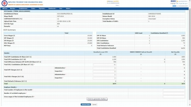 ELECTRONIC CHALLAN CUM RETURN (Version 2 0) PROCESS FLOW