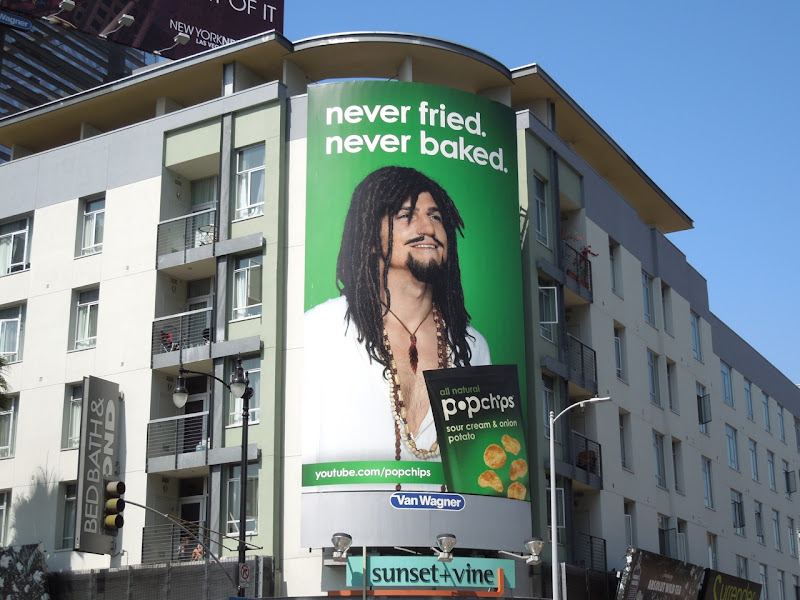 Hippie Nigel Popchips billboard