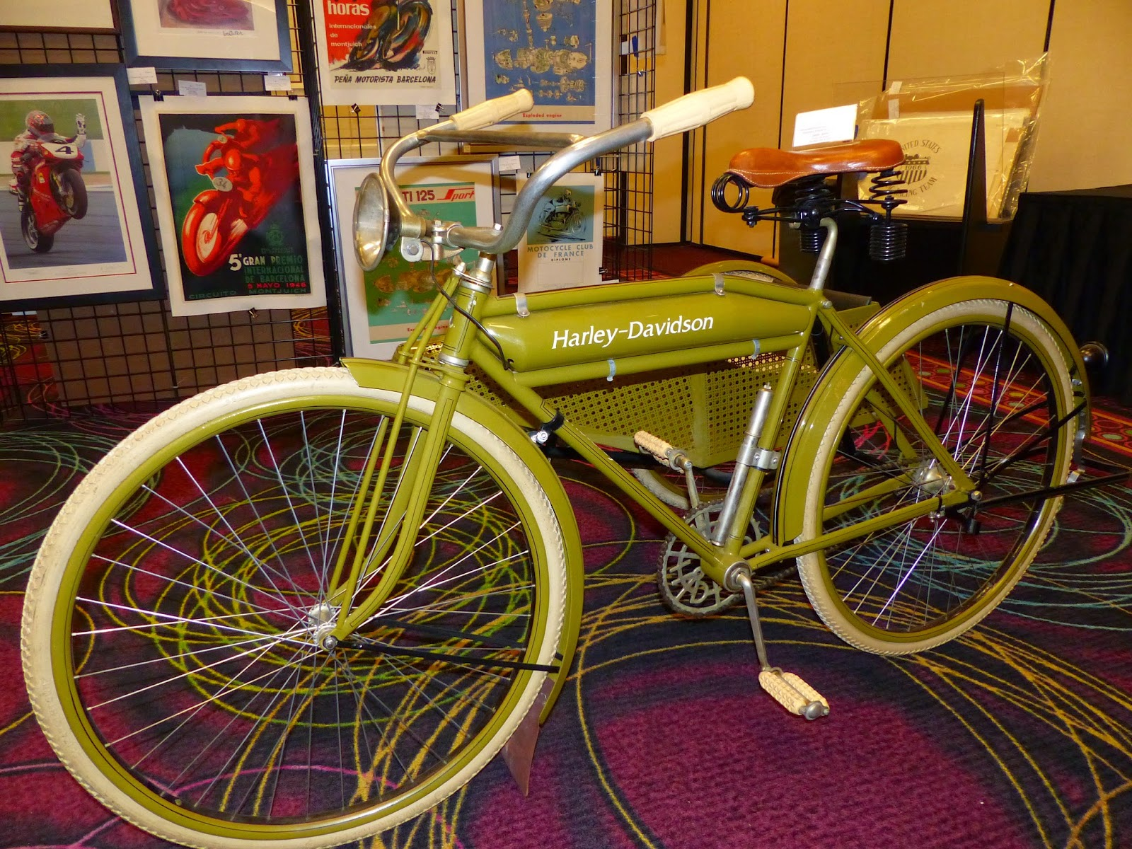 oldmotodude: 1917 harley-davidson bicycle with sidecar for sale at