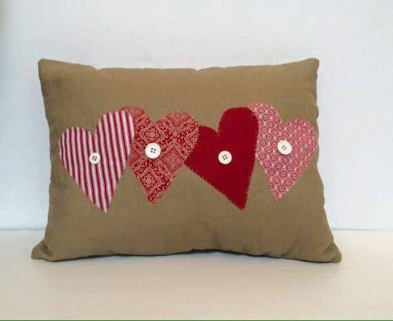 Ideas para decorar cojines con corazones - Ideas para hacer cojines ...