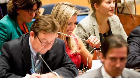Queen Maxima of the Netherlands attended the UN conference on tackling climate change at the United Nation in New York City