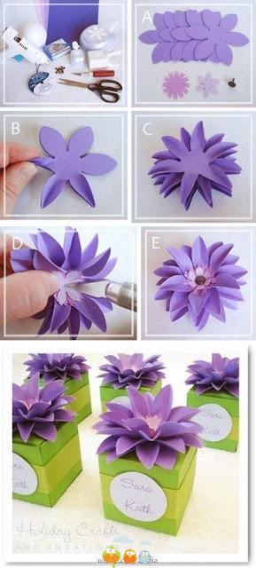 Cajas decoradas con flores para recuerdos souvenirs