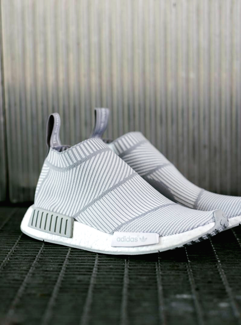 "superior quality fc760 5b9d9 ADIDAS NMD CITY SOCK ""WHITE/GREY""."