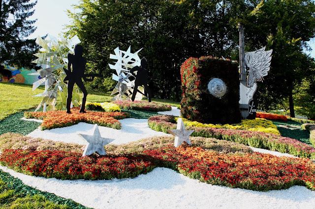 Инсталляция цветоводов Шевченсковского района