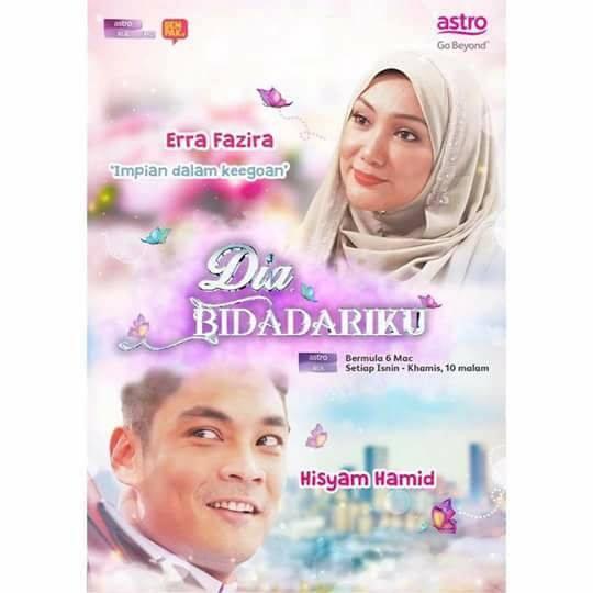 Sinopsis Drama Dia Bidadariku (Mega Drama Astro) Lakonan Erra Fazira dan Hisyam Hamid Menggantikan Drama Urusan Hati Cik Drama Queen