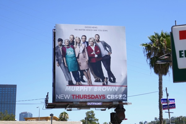 Murphy Brown series revival cast billboard