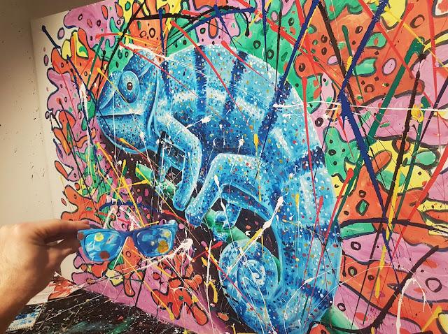 Art Truc Troc - Bozar Brussels - Ben Heine Art - Flesh and Acrylic Live Performance - Chameleon 2017-3