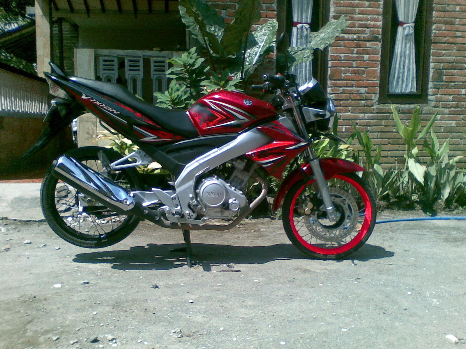102 Modifikasi Vixion Tahun 2010 Warna Merah Modifikasi Motor
