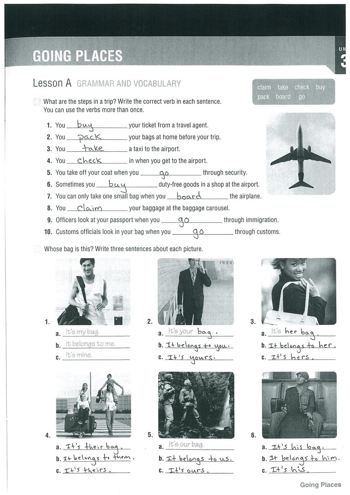 Jiu Fundamentals Of English I Unit 3 Vocabulary List And