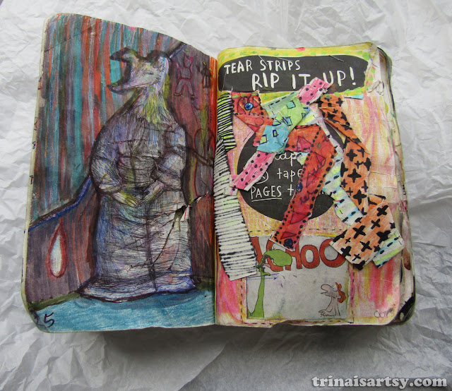 Wreck this Journal - Tear strips rip it up