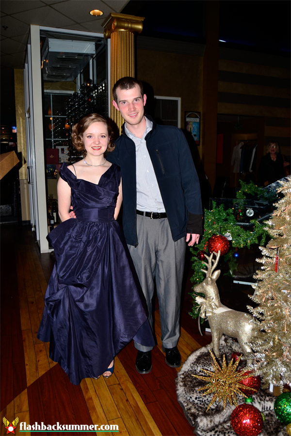Flashback Summer: 23rd Birthday Dinner - vintage 1950s couture dress, navy blue