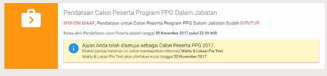 Jadwal dan Waktu Pretest PPG 2017