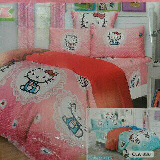 ual Sprei Round Kitty Pink No.1 Cotton carlotta