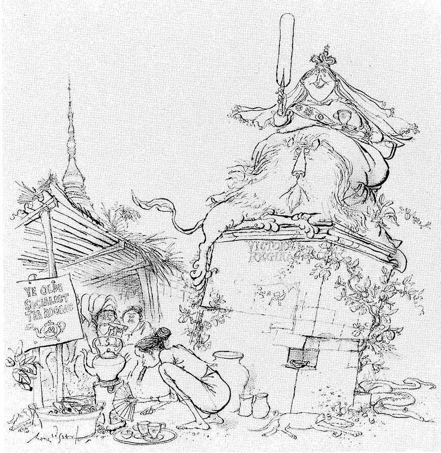 Ronald Searle's cartoon of Queen Victoria