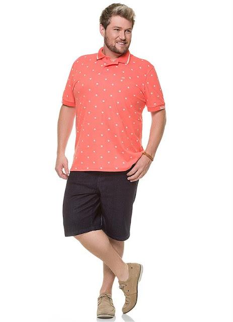 Camisa Polo Masculina Adulto Rosa Wee!