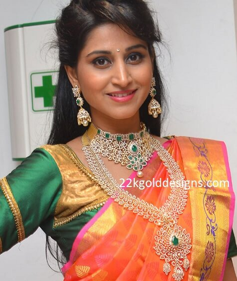 Shamili in Manepally Emerald Diamond Jewelry