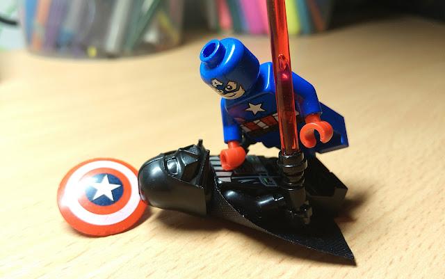 Капитан Америка и Дарт Вейдер, минифигурки лего