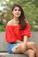 Rhea Chakraborty in Red Crop Top and Denim Shorts Spicy Pics ~  Exclusive 042.JPG