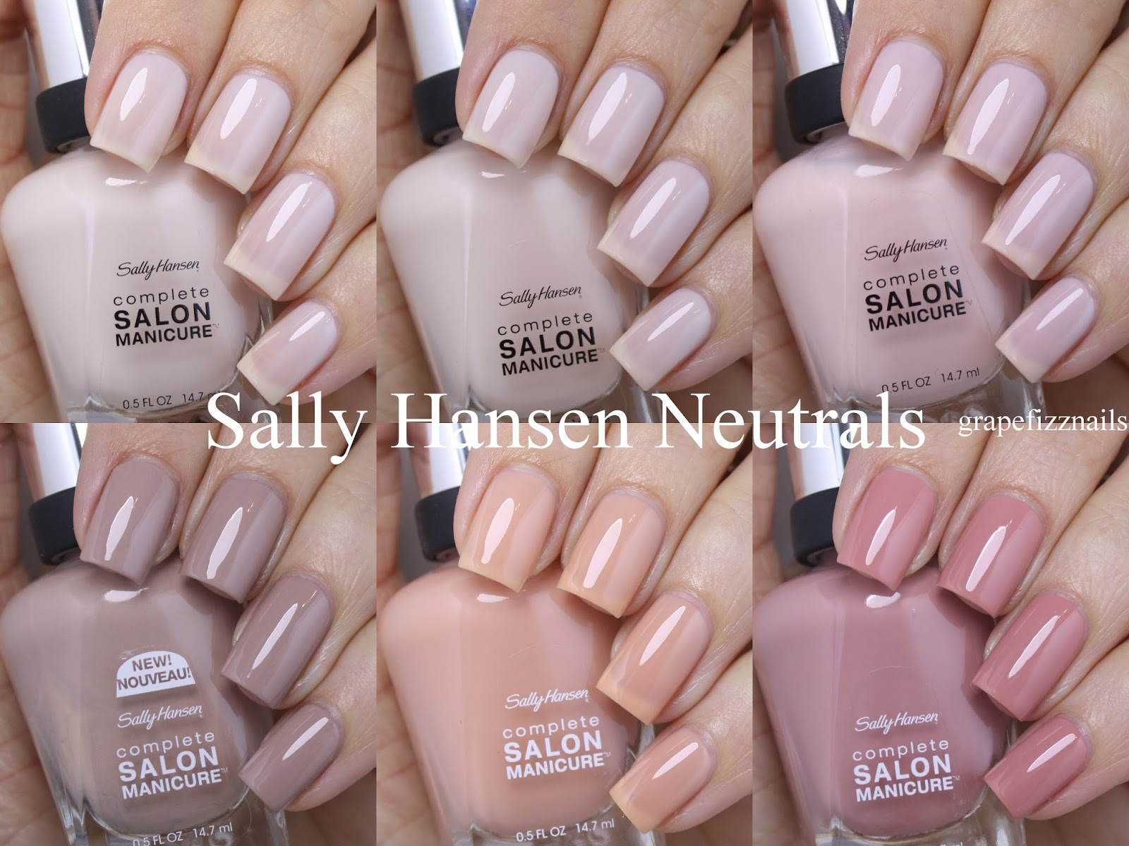 Grape Fizz Nails: Sally Hansen Play It Neutral This Summer 2016